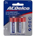 Batteries C 2pk Heavy Duty Ac Delco On Blister Card