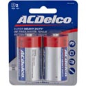 Batteries D 2pk Heavy Duty Ac Delco On Blister Card