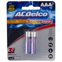 Batteries Aaa 2pk Alkaline Ac Delco Carded