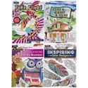 Coloring Book Adult 4 Asst Random Designs In Floor Display Ppd $3.95