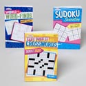 World Of Puzzles 3 Asst 128 Pg Word Finds,sudoku,easy Xwords In Pdq Ppd $4.95