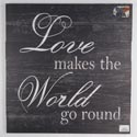Wall Decor Love Makes The World Go Round 24x24 Wood *24.99*