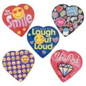 Valentine Candy Chocolate Heart Social Media 5 Asst 2.0 Oz Pdq