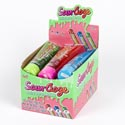Candy Sour Ooze 4.0 Oz Tube 12ct Counter Dspl 3 Asst Flavors Watermelon, Blue Raspberry