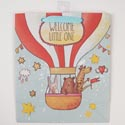 Gift Bag 9.75 X 8.25 X 3.75 Cub Embellished Welcome Balloon