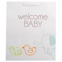 Gift Bag 12.25 X 10 X 4 Lrg Cub Embellished Welcome Baby