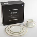 Dinnerware 5pc Place Setting Oneida Golden Puritan Bone China *119.99* Heirloom Litho Boxed