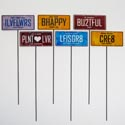 Garden Markers License Plate 3.5 X 6 6 Assorted (3.25)