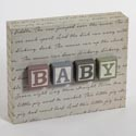 Box Plaque 11 X 8.5 Polyester Baby Blocks (12.00)