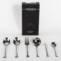 Serving Set 6pc 10.4in Fine S/s Oneida Faceta *49.99* Black Box *no Online Sales*