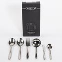 Serving Set 6pc 10.38in S/s Oneida Lunette *49.99* Black Box *no Online Sales*