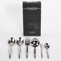 Serving Set 6pc 10.38in Fine S/s Oneida Miralles *49.99* Black Box *no Online Sales*