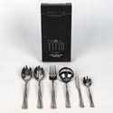 Serving Set 6pc 10.38in Fine S/s Oneida Riverine *49.99* Black Box *no Online Sales*