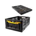 Crate Plastic Collapsible Stackable Black *22.99* 23.75 X 15.75 X 8.75