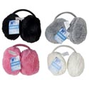 Earmuffs Furry 4ast Colors Black/grey/cream/pink Ht/jhook Wear Behind Your Head