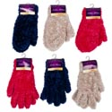 Glove/mitten Ladies Furry 3ast Colors Ea 40gm/pair 8x4in Header Card W/hook