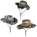 Hat Camo 3ast Wide Brim W/neck Cord&side Snaps Breathable Mesh Sides  Polyester/hangtag/jhook