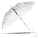 Umbrella 36in Dia Clear Pvc 8 Ribs Auto Open/ht