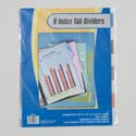 Index Tab Dividers 8ct Transparent Colors 3 Hole Punch Stationary Insert/pb