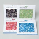 Microfiber Cleaning Cloth 6x7in Printed/4 Colors Peggable Window Sleeve/ For Phones/tablets/et