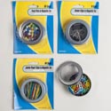 Stationary Filled Magnetic Tins Pushpins/paperclips/binder Clips Stat Blister Card