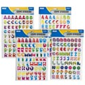 Stickers Alphabet/numbers 142pc 1in In 4ast Funprints Stat Pbh W/transparent Backing