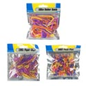 Stationary Resealable Packs 3ast 12pc Mdsgstrip Paperclips/push Pins/rubberbands Stat Printdpb