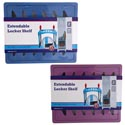Locker Shelf Extendable Adjust To 14in 2ast Blue/purple Shrink/paper Band