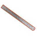 Ruler Steel 12in Upc Label 48pc Pdq