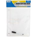 Dry Erase Board 8.5 X 11in Full Sheet Magnet Notebook Paper Lined Look W/marker Stat/pbh