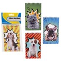 Memo Books 50sheet 3x5 S/4 Dog & Cat Covers Stat Pbh 4ast Designs Sub G02120t