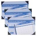 Calendar Desk Pad 2020 11x17 12 Month 3ast Color/36pc Pdq Ea Ind Polybagged/12 Sheet