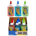 Glue 3.8oz 3ast Color 12pc Pdq Nontoxic Washable