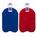 Twin Bottle Cooler Bag W/handle Neoprene Lined/blue Or Red Clr 8.7x13in Summer Barbell Card