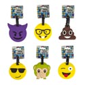 Luggage Tag Emoticon 6asst 3ea On 12pc Mdsg Strip