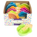 Ice Cream Set W/2 Dish & 2spoons Shrink/lab 12 Set Pdq Summer Colors