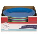 Serving Platter 14in Round 4asst Summer Colors In 48pc Pdq Summer Label