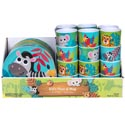 Dinnerware Kids Jungle Animal Plate/mug 4asst 48pc Pdq Elephant/parrot/zebra/leopard