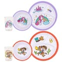 Dinnerware Kids 144pc Shipper Cowboy/unicorn Bowl/cup/div Plte