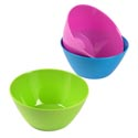 Bowl Melamine 6in Grn/pink/blue 100g Solid Color Summer/label