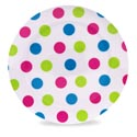 Dinnerware Melmn Dessert Plate 8in Dot Print Summer Label 80g