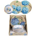 Dinnerware Melamine Hydrangea 11in Plate/7.25in Bowl 32pc Pdq 2ast Plates/1 Style Bowl