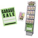 Garage Sale Shipper 192pc 120pks Of 400ct Ppc Labels + 72 11x13in Signs/floor Display
