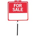 Sign For Sale 14x15 26in W/pole Weaterproof Plastic Perforated Header
