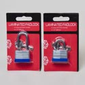 Padlock Laminated 30mm W/keys Long/short Shackle Hdw Blc