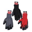 Gloves Work Nitrile Coated Red/grey/blk Hrdwr Tie-on Card