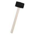 Mallet Rubber W/wood Handle ** 8 Oz Hardware Label