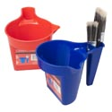 Paint Cup Plastic Red/blue 7.28 X 5in 68g/2.4oz Hdw Lbl