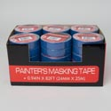 Tape Masking Painters Blue .94in X 82ft In 36pc Pdq (24mm X 25m)