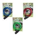 Lock Cable Vinyl Coat W/2 Keys 25 1/2in Hardware Tcd Red/blue/green
